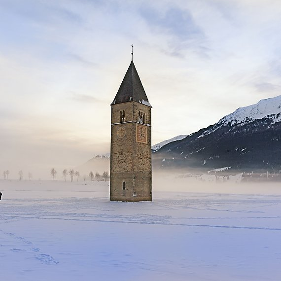 Tower in den lake Resia